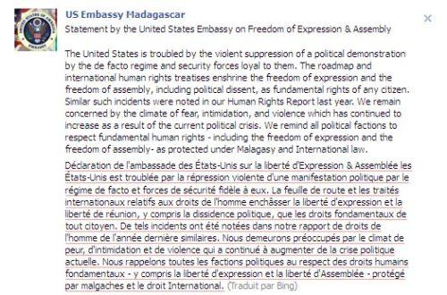 Article : Révolution Malgache sur Facebook