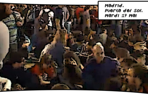 Article : A Madrid, des milliers de personnes devant la Puerta del Sol