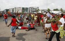 Manifestantes, Abobo Gare