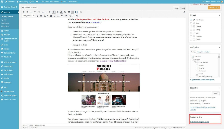 tutoriel mondoblog image a la une