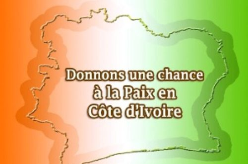 Article : Donnons une chance à la paix en Côte d'Ivoire !