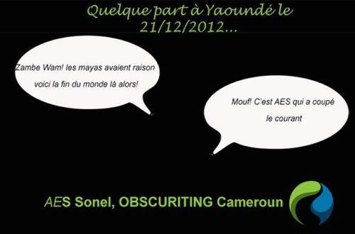 Article : Je suis camerounais, j'aime AES Sonel