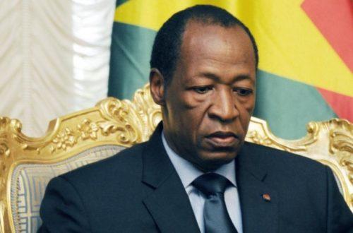Article : Burkina; fin de règne pour Blaise Compaoré