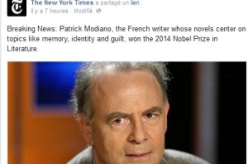 Article : Modiano, Nobel de littérature 2014: qu'en pensent les anglophones ?
