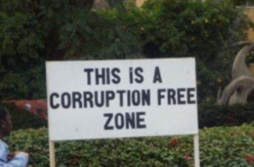 Article : Corruption : six occasions de chute