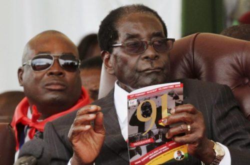 Article : Robert Mugabe, président de l'UA : rien d'anormal !