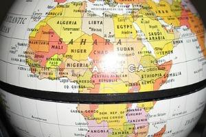 Afrique sur un globe