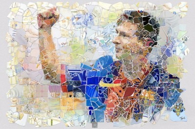 Messi en mosaïque