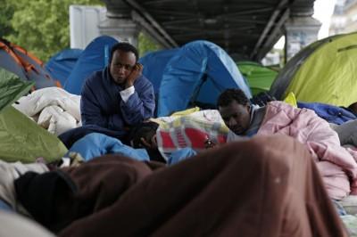 Camp de migrants à La Chappelle