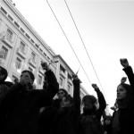 Jeunes Grecs manifestent