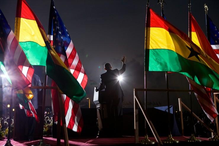 Barack Obama au Ghana, en Afrique