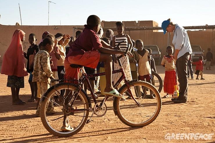 Vélo au Niger