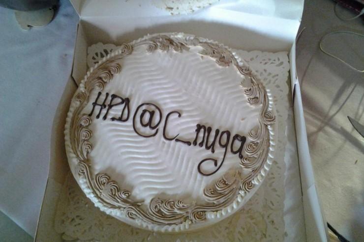 Gâteau anniversaire au Tweetup XI
