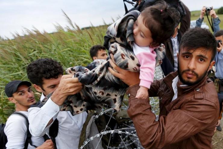 Réfugiés frontière hongroise