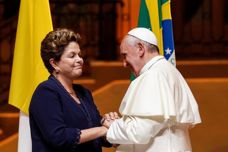 Dilma Rousseff Pape François