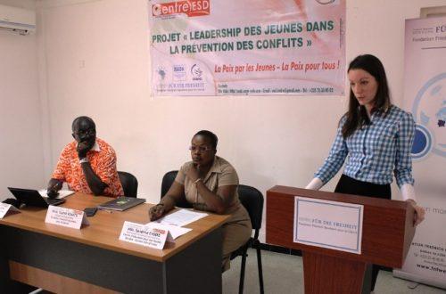 Article : Des jeunes Ivoiriens initiés à la prévention des conflits