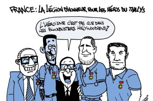 Article : France : les héros du Thalys chevaliers de la Légion d'honneur