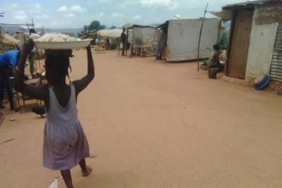 Déplacés aéroport Bangui