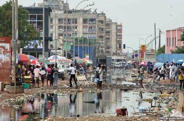Luanda, Angola, insalubrité