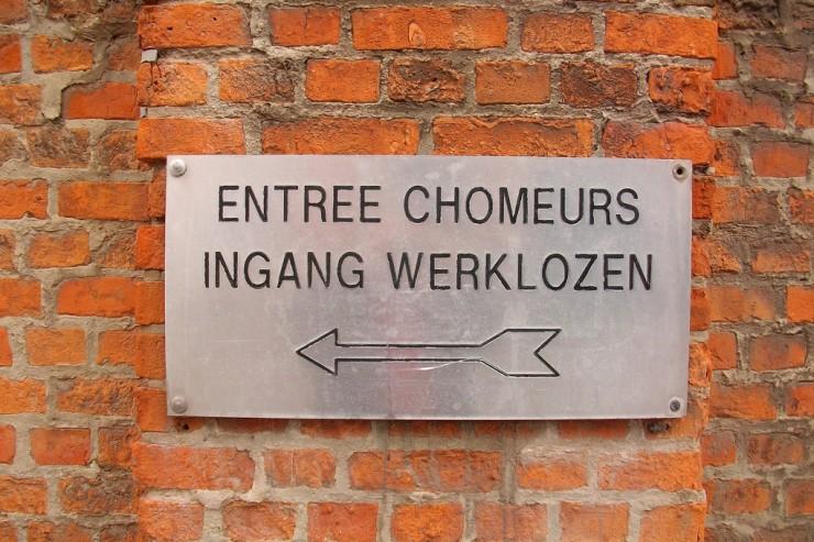 """Panneau """"Entrée Chômeurs"""""""
