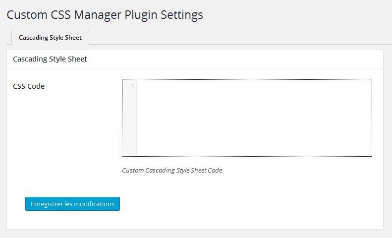 Tuto CSS - Custom CSS Manager
