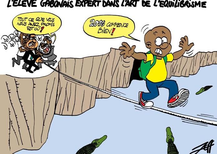 L'élève gabonais, un dessin de Jeff Ikapi