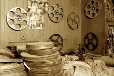 vieilles bobines de film