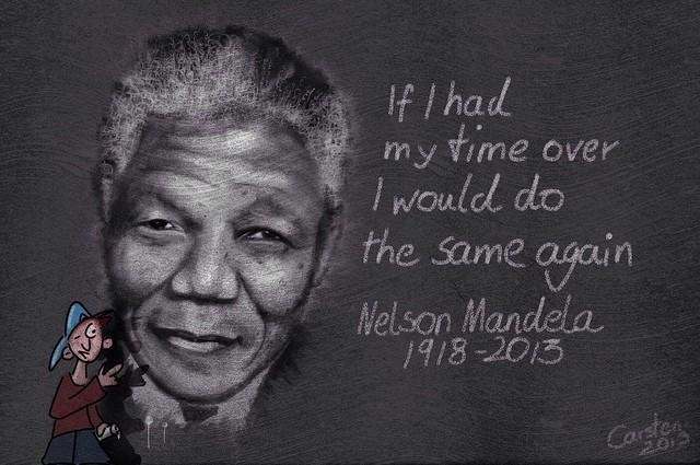 Nelson Mandela, un modèle pour beaucoup