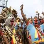 Les supporters congolais exultent après la victoire des Léopards