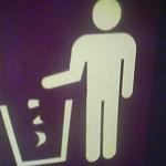 panneau de signalisation pour poubelles