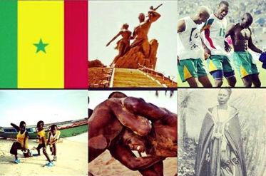 Montage d'images représentant le Sénégal