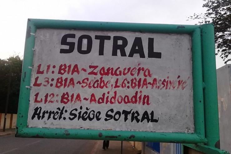 Panneau indicatif SOTRAL