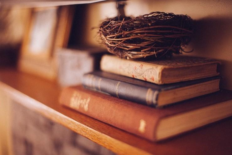 Photo de livres sur une étagère