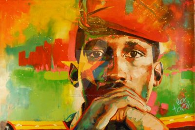 Peinture de Thomas Sankara