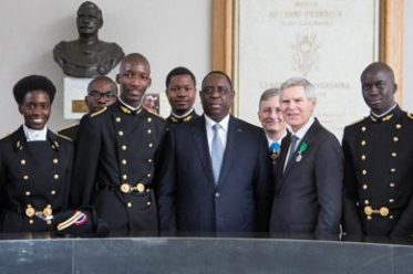 étudiant sénégalais de Polytechnique Paris avec Macky Sall