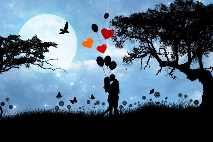 des amoureux dans la nuit
