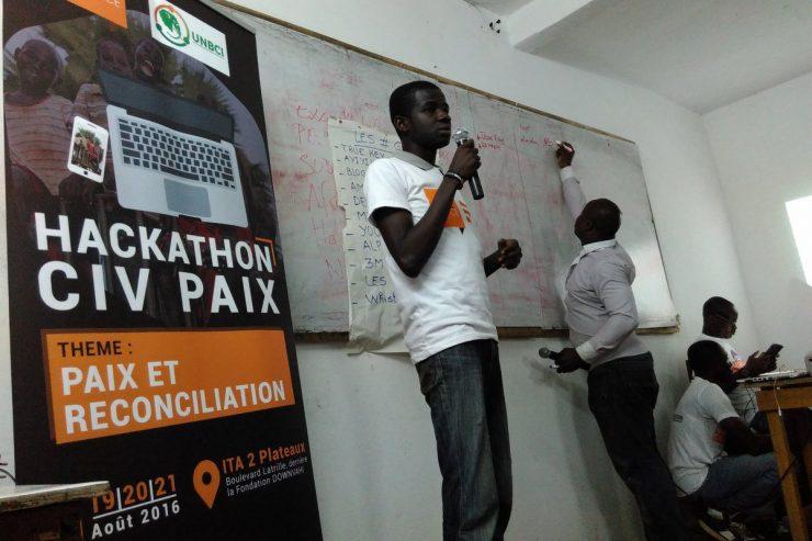 hackaton civ paix Séance de pitch – crédit Clara Sanchiz