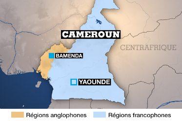 Carte du Cameroun anglophone