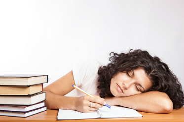 dormir en examen