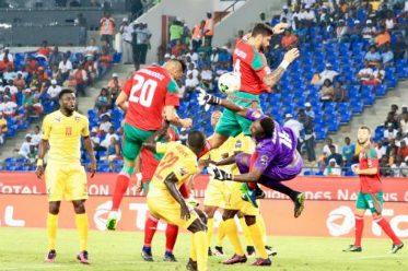 Le match du Togo contre le Maroc