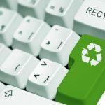 """Clavier avec touche """"recyclage"""""""