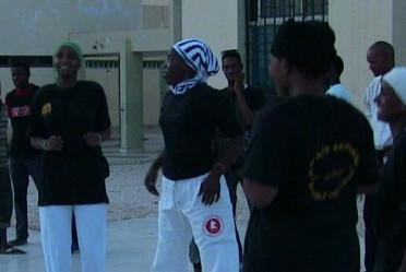 Des Mauritaniennes en cours d'auto-défense.