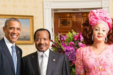 Paul Biya et la première dame du Cameroun, en visite à la Maison Blanche.