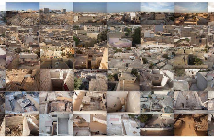 image artistique de villes africaines (photo collage)