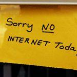 Sorry, no internet today