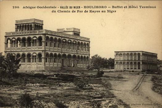 Hotel-koulikoro-histoire-carte-postale-mali-rail-chemin-fer