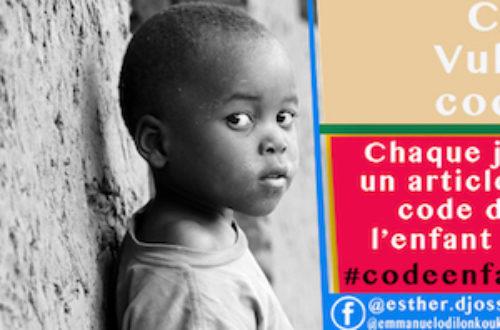 Article : #codeenfant229: une campagne pour vulgariser le code de l'enfant au Bénin