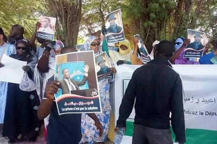 manifestants-mauritanie-assemble-nationale-nouakchott-depute-Birame-Dah-Abeid