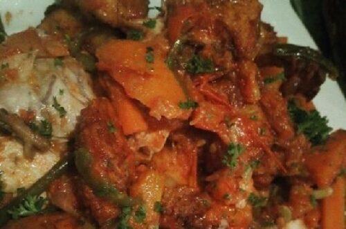 Article : Haricots blancs, porc frit, missolè chez Stéphane House, à Douala