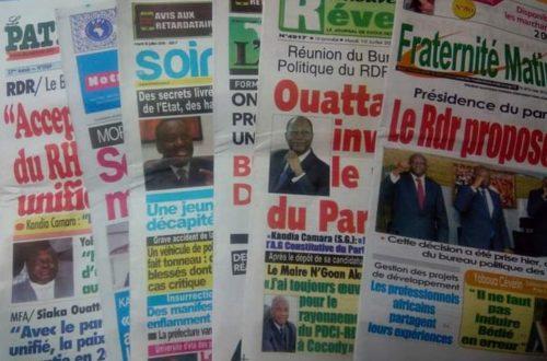 Article : Afrique de l'Ouest francophone : la presse en danger !